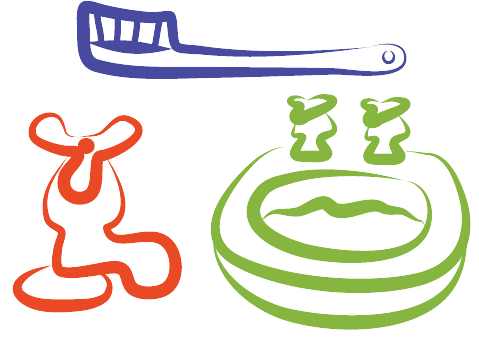 sink and toothbrush line drawings