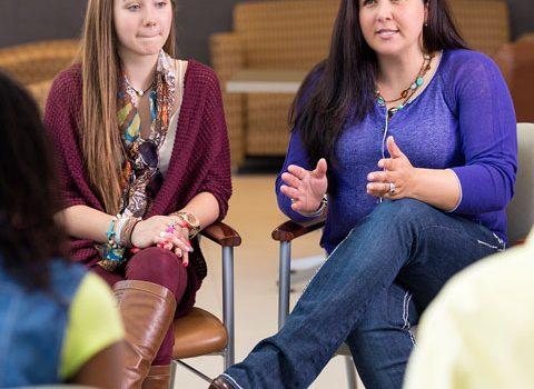 parent liaisons talking to other parents