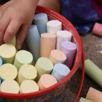 pail of sidewalk chalk