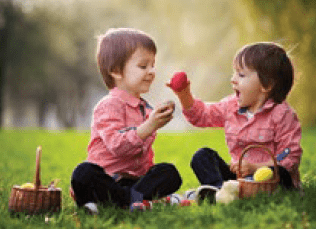 two young children playing