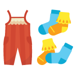 drawing of children's clothing