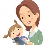 drawing of mom and child