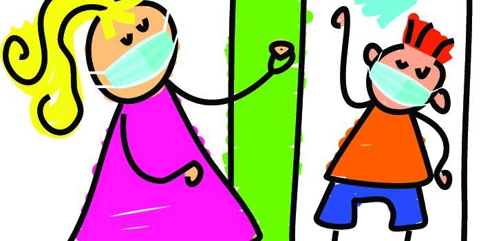 drawing of open door